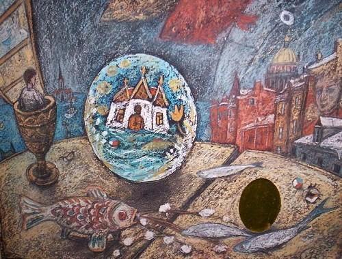 Волшебное яйцо (Пасха) 35x45 картон, пастель Цена: 12500