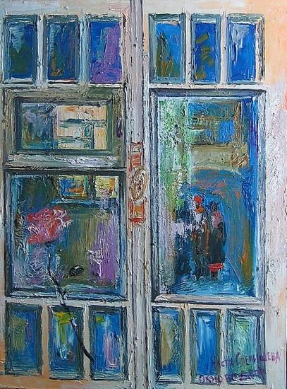 Окно во двор 2008 г. 70х50 холст, масло Цена: 33000