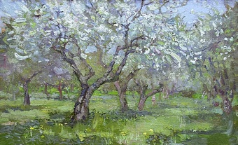 «Цветущий сад. Масло.» Мастер-класс обучения живописи для взрослых