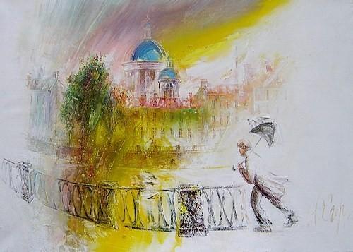 Солнце и дождь, частная коллекция - авторская копия на заказ 2005 г. холст, масло