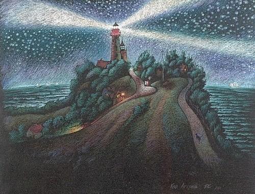 Ночь у маяка 2003 г. 70х90 бумага, пастель Цена: 35750