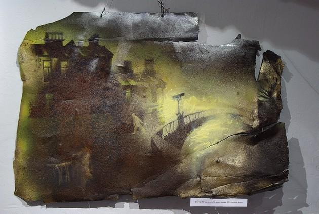 На краю города, из серии «Второе дыхание» 2011 г. железо, акрил