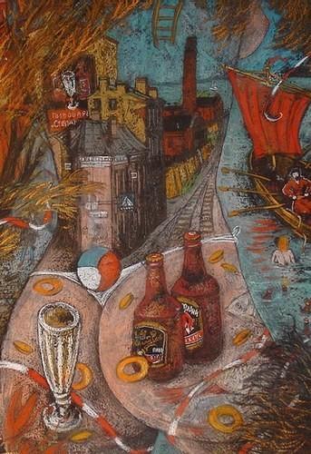 Пивоваренный завод «Степан Разин» 45x30 картон, пастель