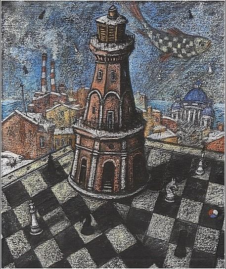 Шахматы. Ферзь 60х50 картон, пастель Цена: 18500