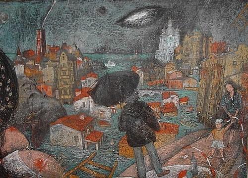 Человек дождя картон, пастель