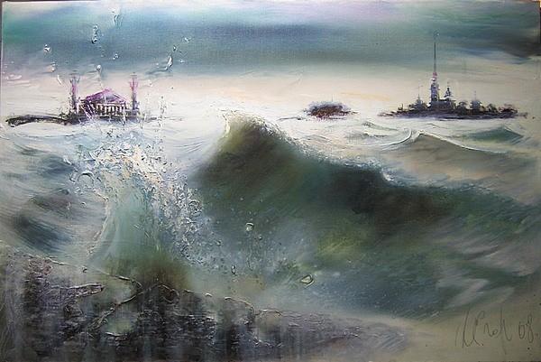 Наводнение 2008 г. 90*130 холст, масло Цена: 55000