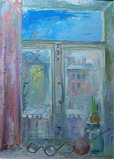 Бабушкино окно 2008 г. 50х70 холст, масло Цена: 30250