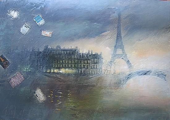 Париж осенью 2008 г. 80х120 холст, масло Цена: 44000