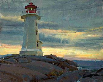 Мастер-класс «Пейзаж с маяком и морем». Масло. Кисти.