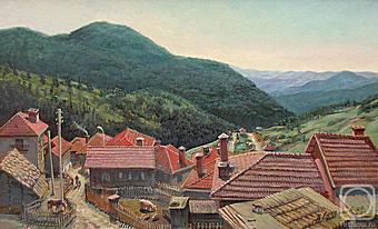 Мастер-класс «Пейзаж. Горы Болгарии. Масло.». Холст. Масло.