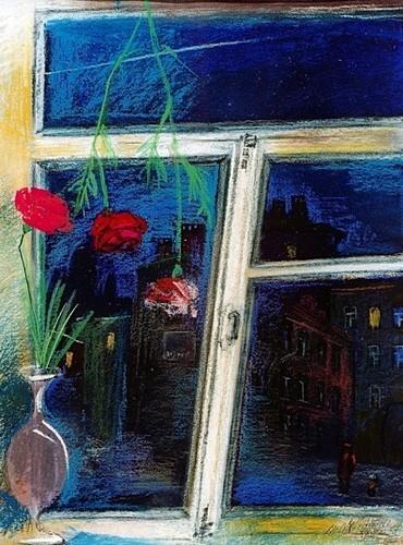 Петербургские сумерки 2001 г. 60х50 бумага, пастель Цена: 16500