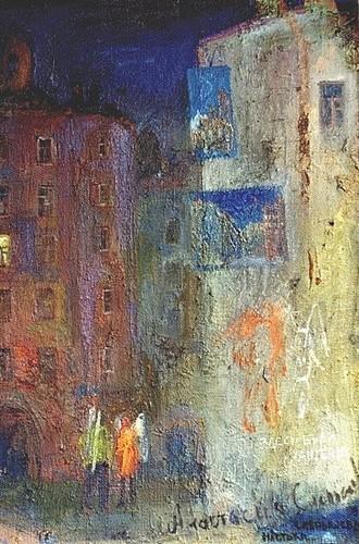 Питерские ангелы 1998 г. 90х60 холст, масло Цена: 55000