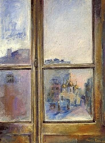 Московское окно 1995 г. 100х80 холст, масло Цена: 66000