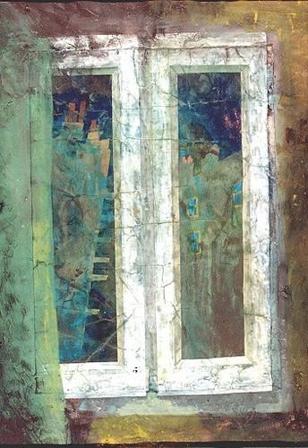 Парижские сумерки 1995 г. 60х50 акрил, картон