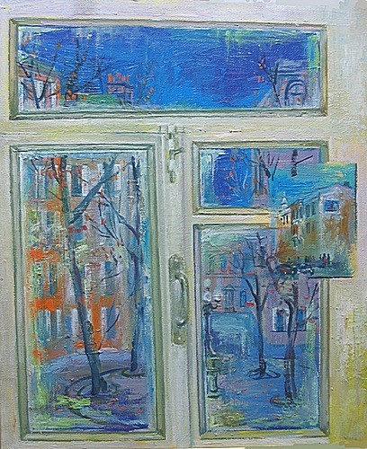 Осенний вечер в Париже 2003 г. 60х50 холст, масло Цена: 55000