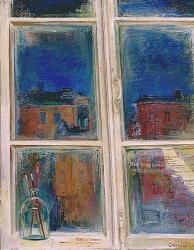 Окно в Петербург 2000 г. 100х80 холст, масло Цена: 66000