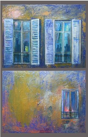 Париж Ночью 2010 г. 2 pieces 70х90 холст масло Цена: 93500