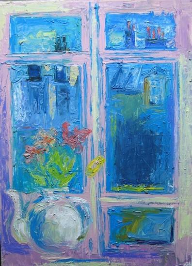 Розовая картинка 2010 г. 60х50 холст, масло Цена: 35750