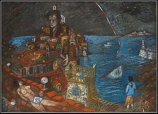 Город в воде 2004 г. 40x55 картон, пастель Цена: 9500