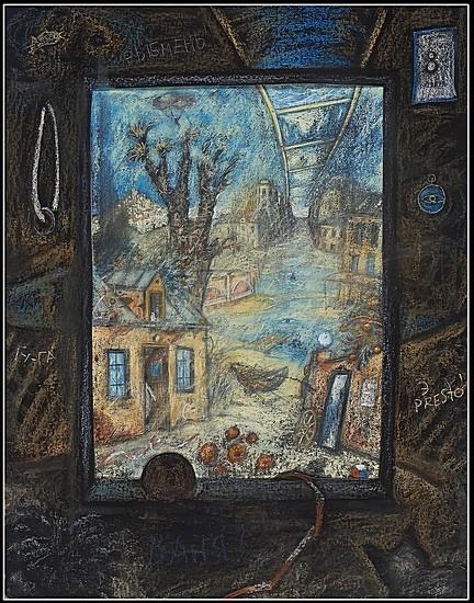 Весь Тарковский 2008 г. 90x70 картон, пастель Цена: 27000