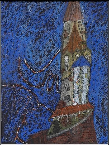 Башня (Иван Антонышев, США) 2007 г. 45x35 картон, пастель Цена: 5000