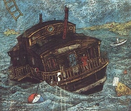 Корабль «Старый Город» 35x50 картон, пастель Цена: 9500