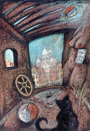 Мечты о Париже 2002 г. 30х50 картон, пастель Цена: 9500