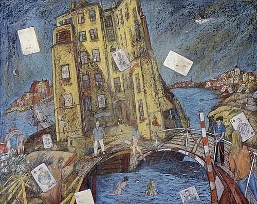 Дом В.Б. Пресковского (Карточный дом) 1989 г. 55х70 картон, пастель
