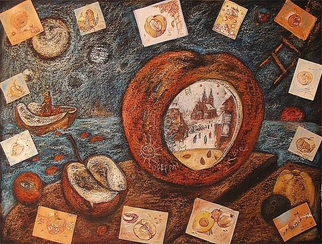 Разные Яблоки картон, пастель