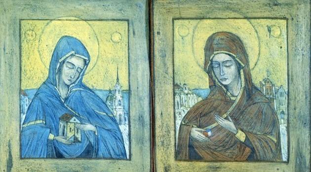 Маша, Ника Белоцерковская картон, пастель