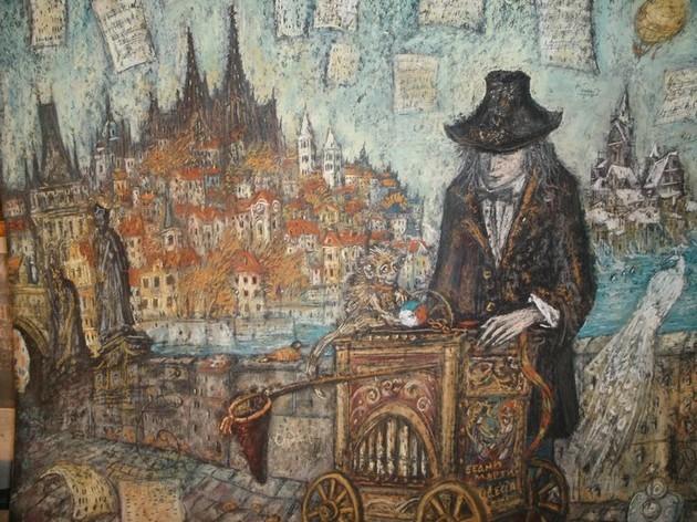 Шарманщик или Музыка Старого Города 2010 г. картон, пастель