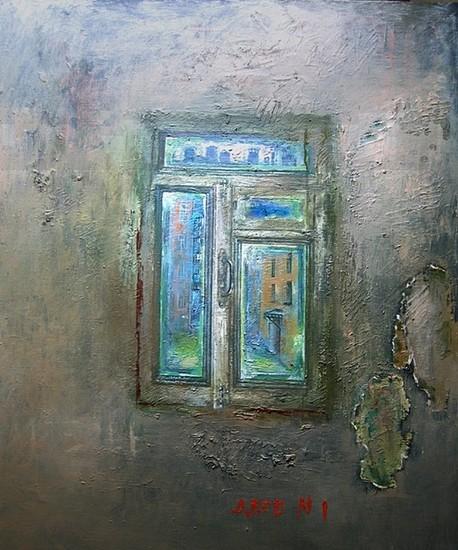 Двор номер 1 2009 г. 100x80 холст, масло Цена: 44000